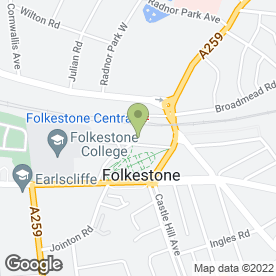 Map of Bespoke Sugarcraft in Folkestone, kent