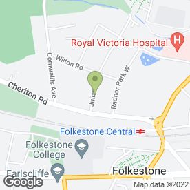 Map of Ashley House Care Home in Folkestone, kent