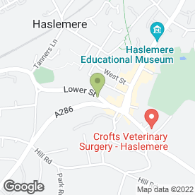 Map of SEWING ROOM in Haslemere, surrey