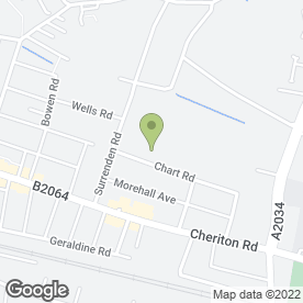 Map of Morehall Pre-School in Cheriton, Folkestone, kent