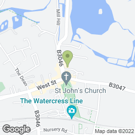 Map of Tesco Express in Alresford, hampshire