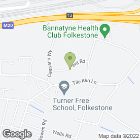 Map of Elite Flooring Online Ltd in Folkestone, kent