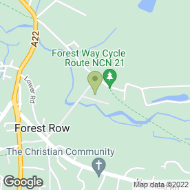 Map of Forest Lodge Vets - Medivet in Forest Row, east sussex