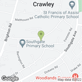 Map of Hatters Catering Co in Crawley, west sussex