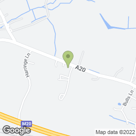 Map of MICROWAVE SERVICE CO in Sellindge, Ashford, kent