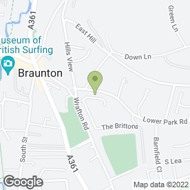 Map of Beach Hut Garden Services in Braunton, devon