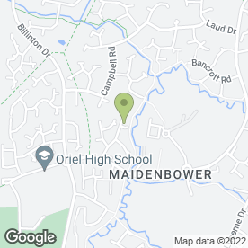 Map of Health at Hand in Maidenbower, Crawley, west sussex