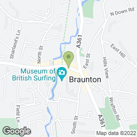 Map of Braunton Mobility Centre in Braunton, devon