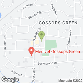 Map of Papa John's in Crawley, west sussex