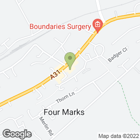 Map of Owen Cycles in Four Marks, Alton, hampshire
