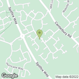 Map of Hawkinge Community Centre in Hawkinge, Folkestone, kent