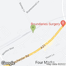 Map of L G Plant Hire in Four Marks, Alton, hampshire