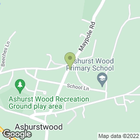 Map of Jon Hair Fashions in Ashurst Wood, East Grinstead, west sussex