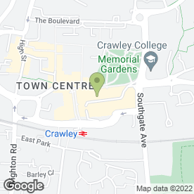 Map of Millies Cookies Ltd in Crawley, west sussex