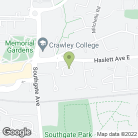Map of Leapfrog Day Nurseries in Crawley, west sussex