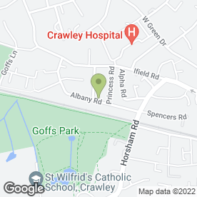 Map of Streets Driving School in Crawley, west sussex