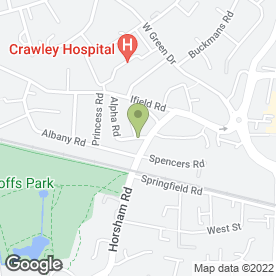 Map of OLD RECTORY GUEST HOUSE in Crawley, west sussex