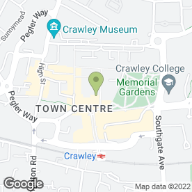 Map of Greggs in Crawley, west sussex
