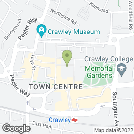 Map of Blocked Drain Specialists in Crawley, west sussex