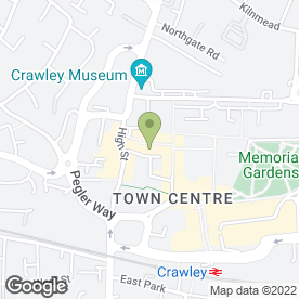 Map of Delos Bakers & Burger Bar in Crawley, west sussex