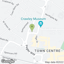Map of Martin & Co in Crawley, west sussex
