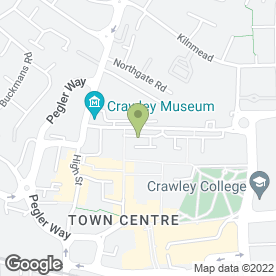 Map of Wimpy Restaurant in Crawley, west sussex