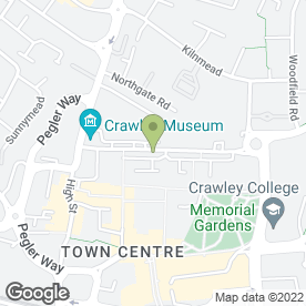 Map of Subway in Crawley, west sussex