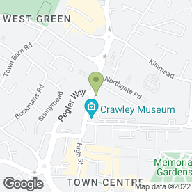 Map of Punchbowl in Crawley, west sussex