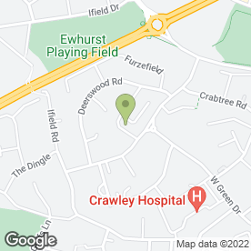 Map of CDG the Crawley Double Glazing Co in Crawley, west sussex
