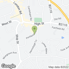 Map of PORTLAND ROAD VETERINARY SURGERY in East Grinstead, west sussex