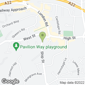 Map of Bullfrog Music in East Grinstead, west sussex