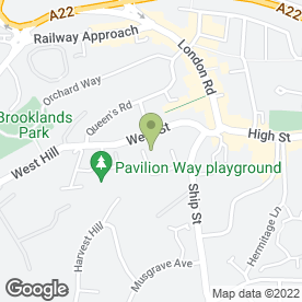 Map of Waitrose Ltd in East Grinstead, west sussex
