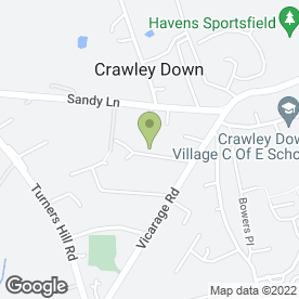 Map of PAKORA in Crawley Down, Crawley, west sussex