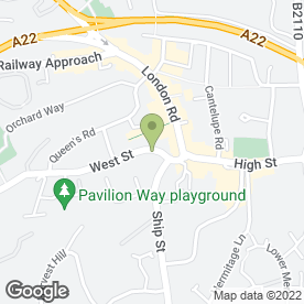 Map of Shillibeer's in East Grinstead, west sussex