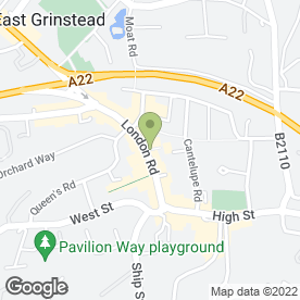 Map of Carphone Warehouse in East Grinstead, west sussex