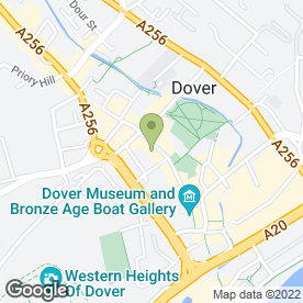 Map of O2 Retail in Dover, kent