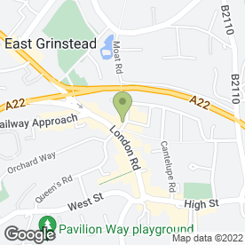 Map of J S Locksmiths in East Grinstead, west sussex