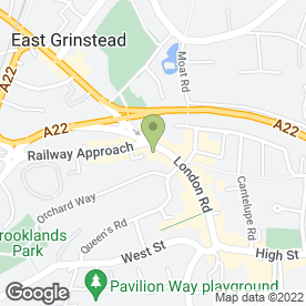Map of Airheads in East Grinstead, west sussex