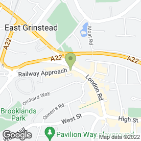 Map of The Computer Studio in East Grinstead, west sussex