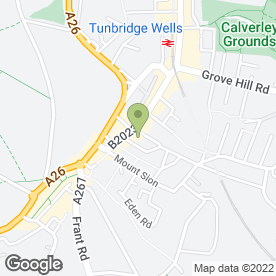 Map of Serenity Therapies in Tunbridge Wells, kent