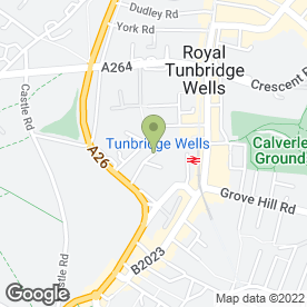 Map of WELLS PHYSIOTHERAPY & SPORTS CLINIC in Tunbridge Wells, kent