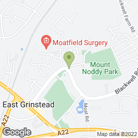 Map of Oakmead Dental Care in East Grinstead, west sussex