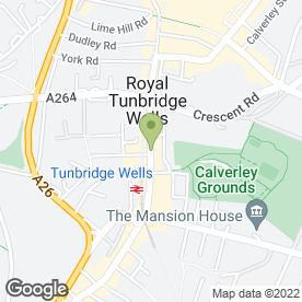 Map of Blocked Drain Specialists in Tunbridge Wells, kent