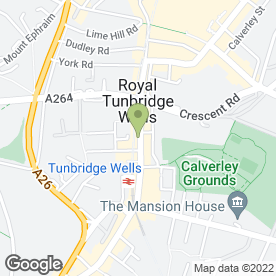 Map of Packyourbags Travel Store Ltd in Tunbridge Wells, kent