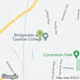 Map of Bridgwater College Childcare Centre in Bridgwater, somerset