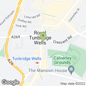 Map of Strada in Tunbridge Wells, kent