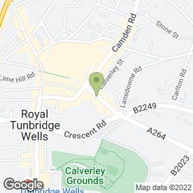 Map of The Guinea Butt in Tunbridge Wells, kent