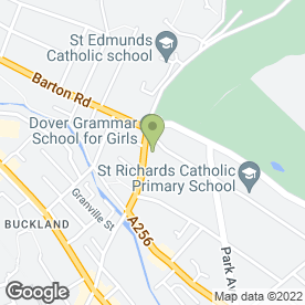 Map of Dover Grammar School for Girls in Dover, kent