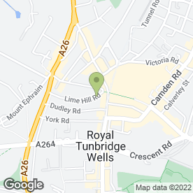 Map of The Comfort Zone in Tunbridge Wells, kent