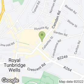 Map of Flight Centre in Tunbridge Wells, kent
